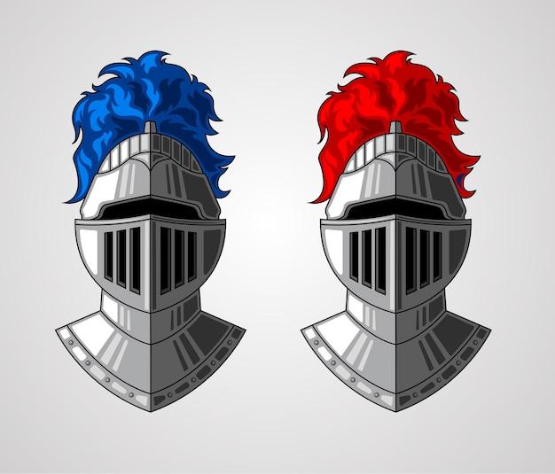 Illustratie van het roer van de ridders