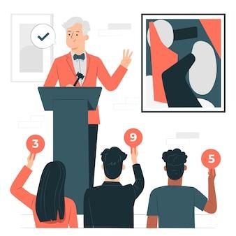 Illustratie van het veilingconcept