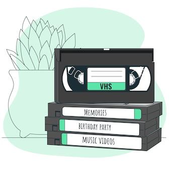 Illustratie van het videobandconcept