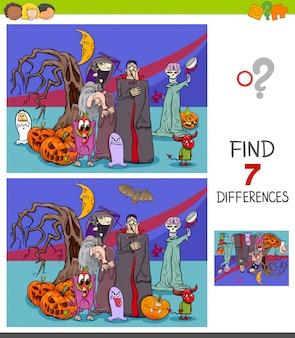 Illustratie van het vinden van verschillen
