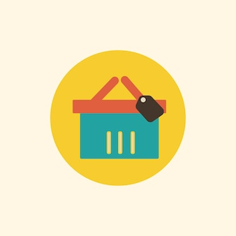 Illustratie van het winkelmandje pictogram