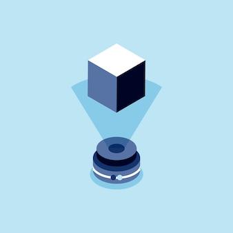Illustratie van holografische technologie