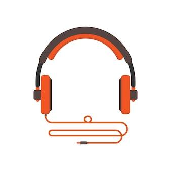 Illustratie van hoofdtelefoon die in wit wordt geïsoleerd