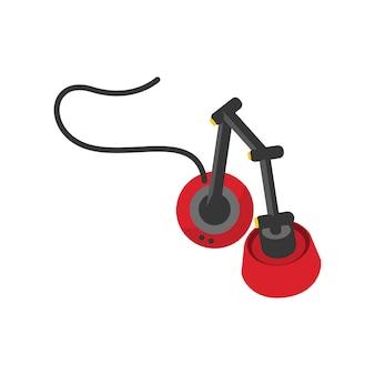 Illustratie van hoofdtelefoons pictogram