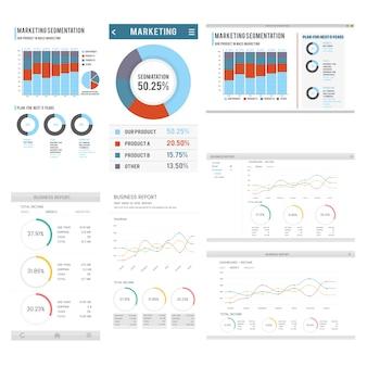 Illustratie van infographic sjabloon