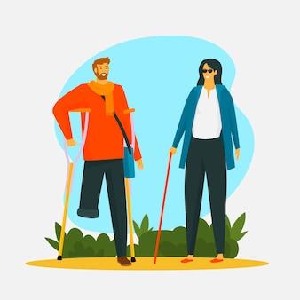Illustratie van internationale dag van mensen met een handicap
