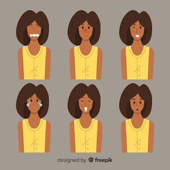 Illustratie van jongeren met verschillende emoties