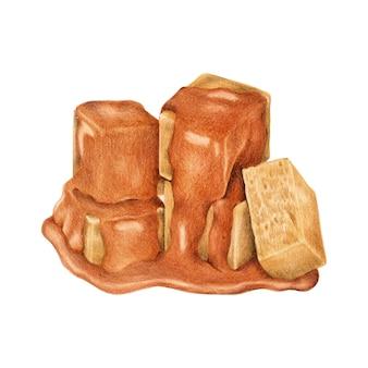 Illustratie van karamel snoep