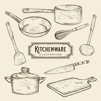 Illustratie van keukengerei
