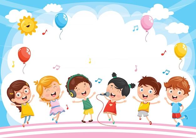 Illustratie van kinderen achtergrond