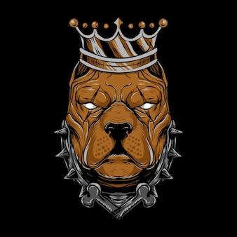 Illustratie van king bulldog geschikt voor t-shirt, poster, print en verwante zaken