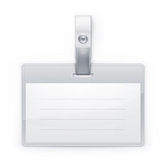 Illustratie van klassieke id-badge.