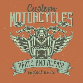 Illustratie van klassieke motorfiets