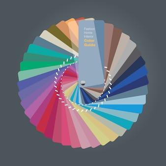 Illustratie van kleurenpaletgids voor huisbinnenlandontwerper