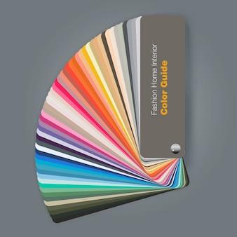 Illustratie van kleurenpaletgids voor manier binnenlandse ontwerper