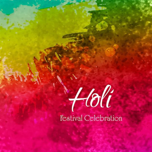 Illustratie van kleurrijke gelukkige holi-achtergrond
