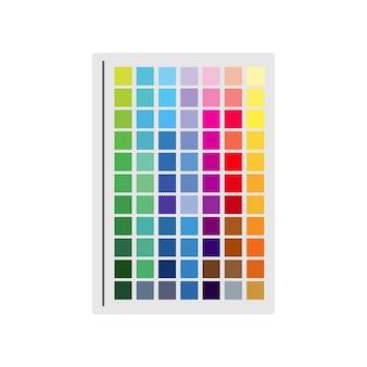Illustratie van kleurstaal