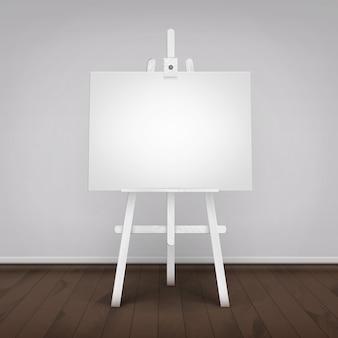 Illustratie van leeg canvas op ezel