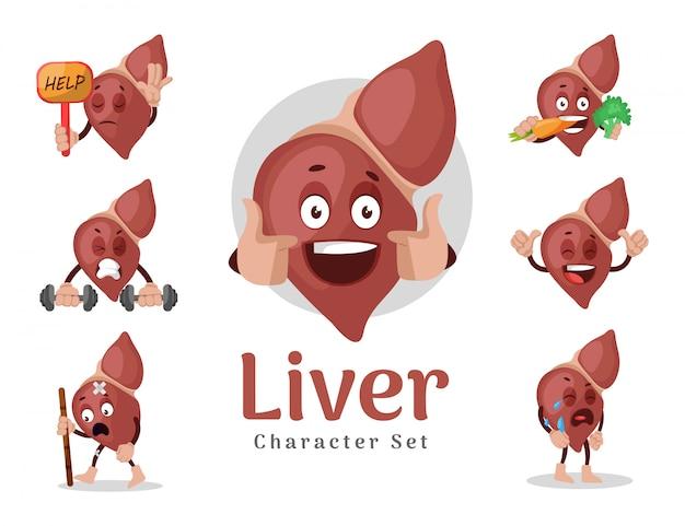 Illustratie van lever tekenset