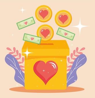 Illustratie van liefdadigheidsfinanciering