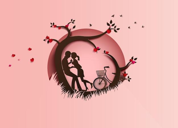 Illustratie van liefde en valentijnsdag