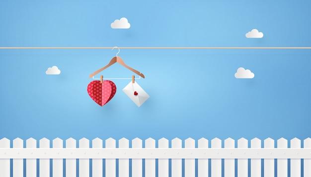 Illustratie van liefde en valentine-dag