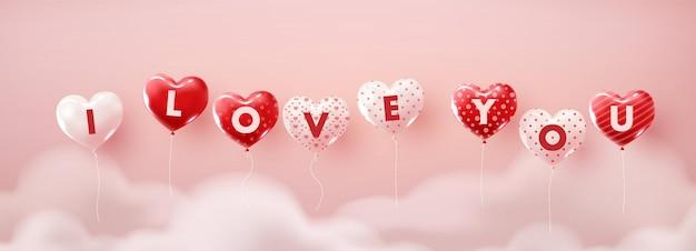 Illustratie van liefde voor valentijnskaartdag