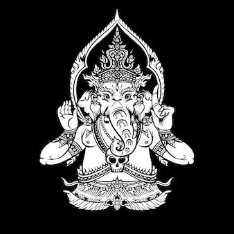 Illustratie van lord ganpati