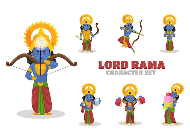 Illustratie van lord rama character set