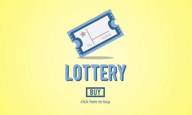 Illustratie van loterijspel