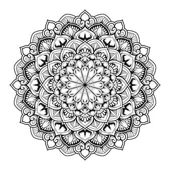 Illustratie van mandala art decorontwerp.