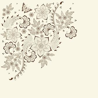 Illustratie van mehndi ornament