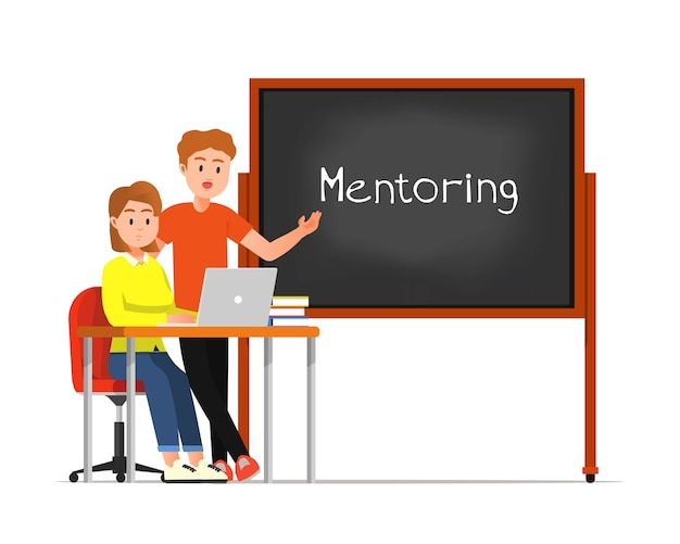 Illustratie van mentoractiviteiten