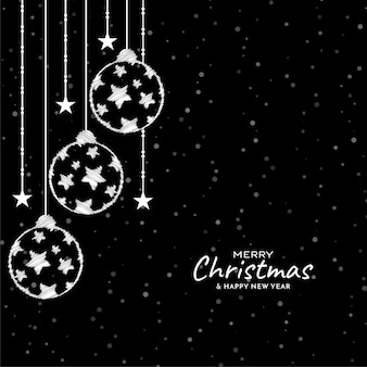 Illustratie van merry christmas feestelijke achtergrond