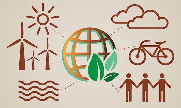 Illustratie van milieuconcept