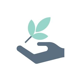 Illustratie van milieuondersteuningspictogrammen