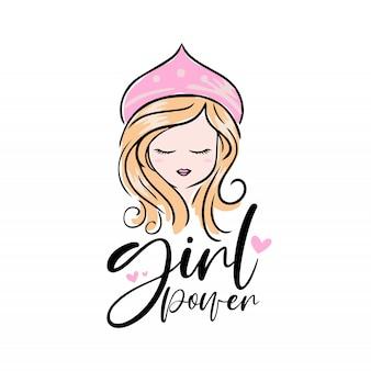 Illustratie van mooi meisje
