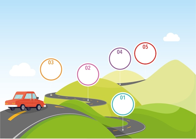 Illustratie van navigatiespeldwijzer in de berg