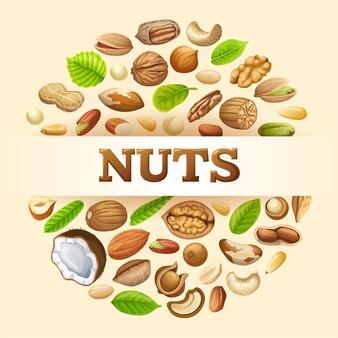 Illustratie van noten.
