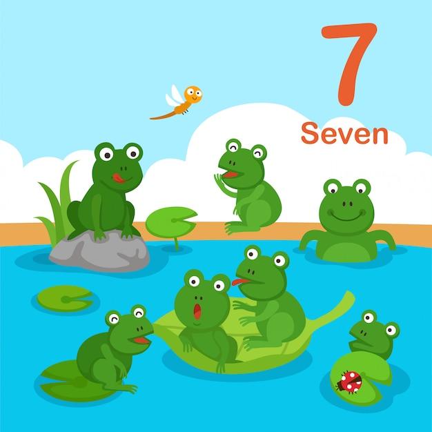 Illustratie van nummer zeven