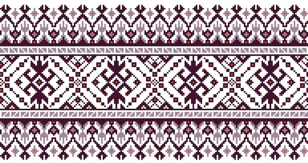 Illustratie van oekraïens folk naadloos patroonornament.
