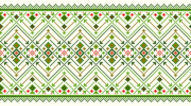 Illustratie van oekraïense folk naadloze patroon ornament.