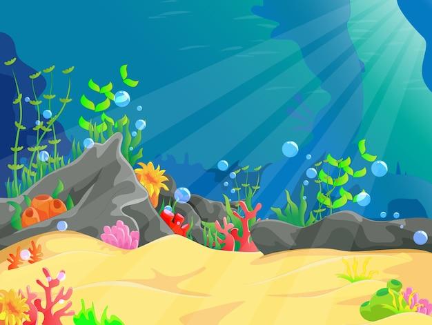 Illustratie van onderwaterlandschap