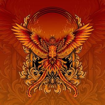 Illustratie van ongelooflijke phoenix