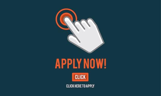 Illustratie van online applicatie