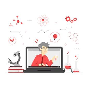 Illustratie van online leren