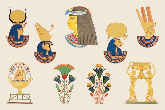 Illustratie van oude egyptische sierelementen