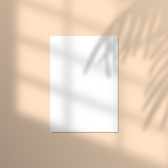 Illustratie van papier met realistische tropische schaduw overlay-effect.