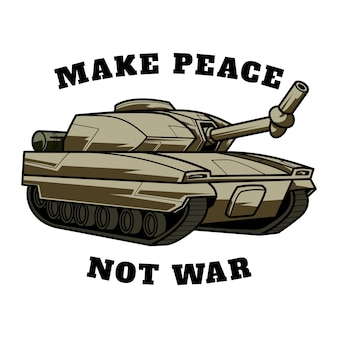 Illustratie van peace tank