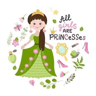 Illustratie van prinses